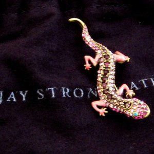 🦎 Jay Strongwater Salamander Pin Smaller one